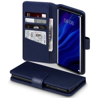 Terrapin Δερμάτινη Θήκη - Πορτοφόλι Huawei P30 Pro - Blue (117-083-241)
