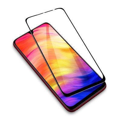 ESR Tempered Glass Xiaomi Redmi Note 7 Full Cover Black - With Easy Installation Frame (200-104-180)