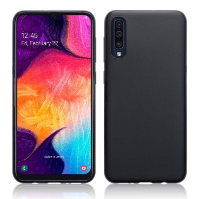Terrapin Θήκη Σιλικόνης Samsung Galaxy A50 - Solid Black Matte Finish (118-002-758)