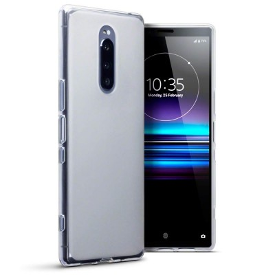 Terrapin Θήκη Σιλικόνης Sony Xperia 1 - White / Transparent (118-005-499)