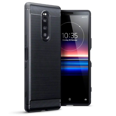 Terrapin Θήκη Σιλικόνης Carbon Fibre Sony Xperia 1 - Black (118-005-501)
