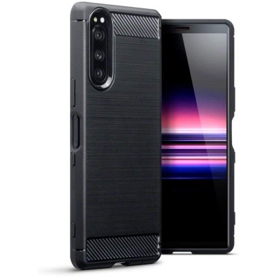 Terrapin Θήκη Σιλικόνης Carbon Fibre Sony Xperia 5 - Black (118-005-509)