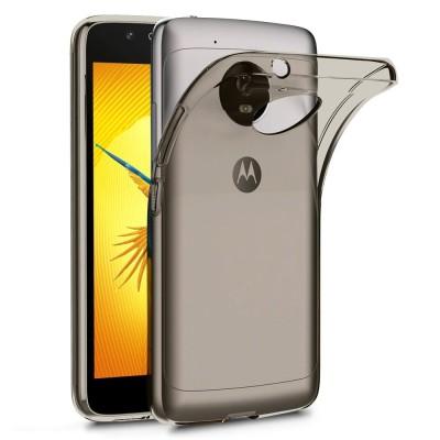 Terrapin Ημιδιάφανη Θήκη Σιλικόνης Motorola Moto G5 - Smoke Black