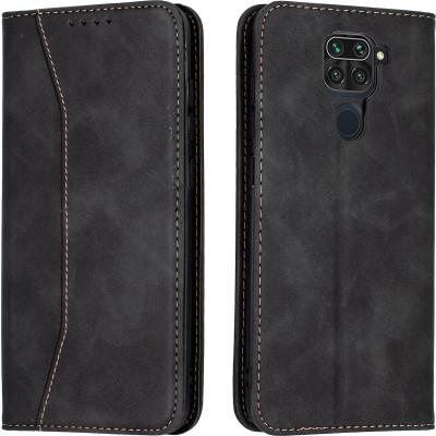 Bodycell Book Case Pu Leather For Xiaomi Redmi Note 9 Black (04-00472)