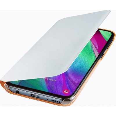 Official Flip Wallet - Θήκη Samsung Galaxy A40 - White (EF-WA405PWEGWW)