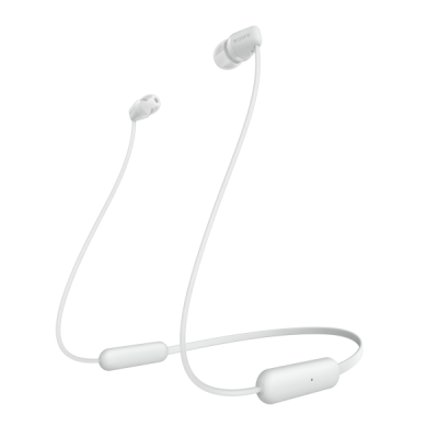Sony Bluetooth Neckband Ασύρματα Ακουστικά - White (WIC200W.CE7)
