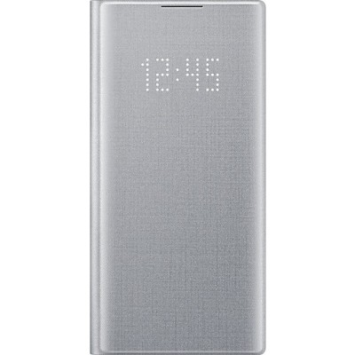 Official Samsung Led View Cover Samsung Galaxy Note 10 - Silver (EF-NN970PSEGWW)