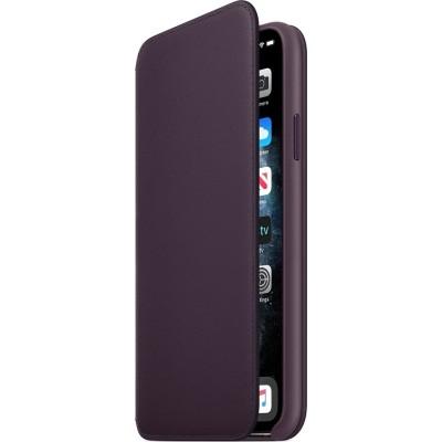 Official Apple Leather Case Folio - Δερμάτινη Θήκη-Πορτοφόλι Apple iPhone 11 Pro Max - Aubergine (MX092ZM/A)