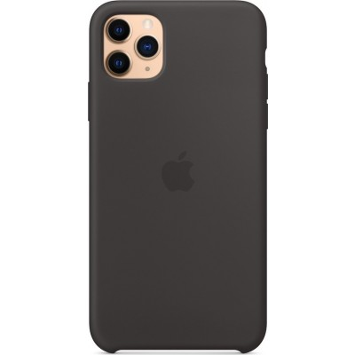 Official Apple Silicone Case - Θήκη Σιλικόνης Apple iPhone 11 Pro Max - Black (MX002ZM/A)
