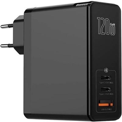 Baseus PD - Φορτιστής Ταξιδιού Type-C x 2 / USB-A x 1- 120W - Black (CCGAN-J01)