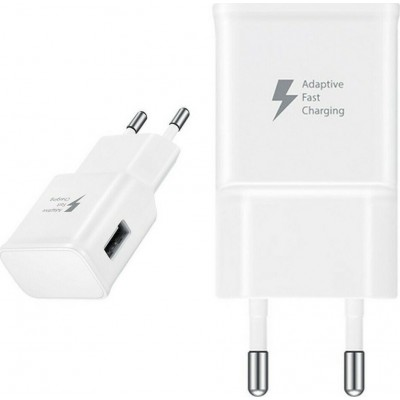 Samsung Fast Travel Charger 15W USB White / No Cable (EP-TA20EWENGEU)