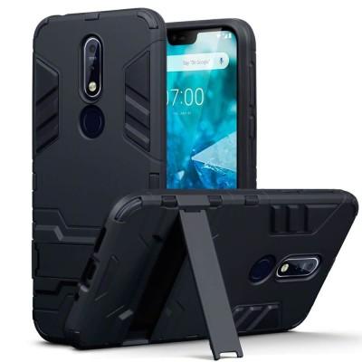 Terrapin Ανθεκτική Dual Layer Θήκη Nokia 7.1 - Black (131-001-042)