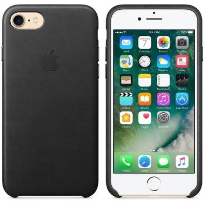 Official Apple Δερμάτινη Θήκη Apple iPhone SE 2020 / 8 / 7 - Black (MMY52ZM/A)