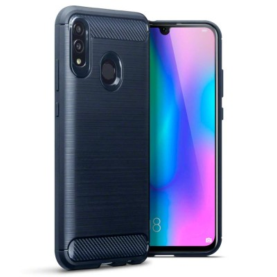Terrapin Θήκη Σιλικόνης Carbon Fibre Design Huawei P Smart 2019 - Blue (118-083-202)