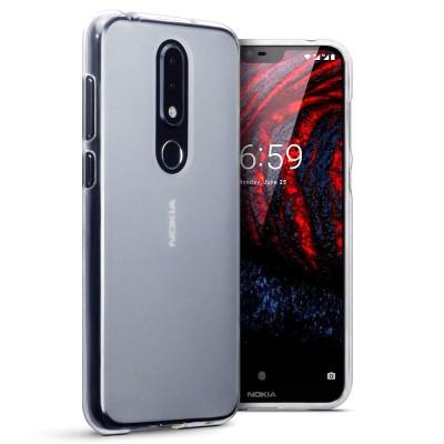 Terrapin Ημιδιάφανη Θήκη Σιλικόνης Nokia 6.1 Plus - Clear