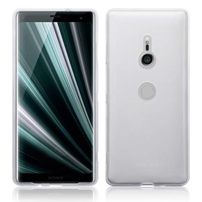Terrapin Ημιδιάφανη Θήκη Σιλικόνης Sony Xperia XZ3 - Clear / White