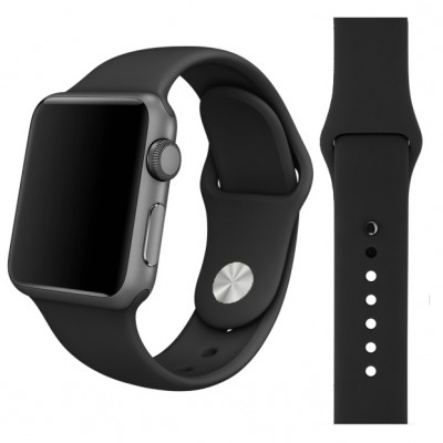 Kakapi Μαύρο Silicone Λουράκι Apple Watch 42mm