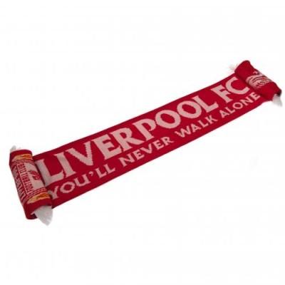 """Κασκόλ Liverpool """"You'll Never Walk Alone """"- Επίσημο προϊόν"""