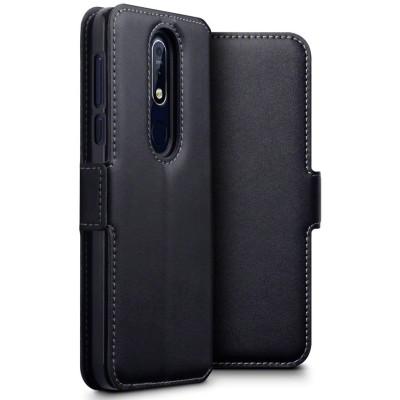 Terrapin Low Profile Δερμάτινη Θήκη - Πορτοφόλι Nokia 7.1 - Black