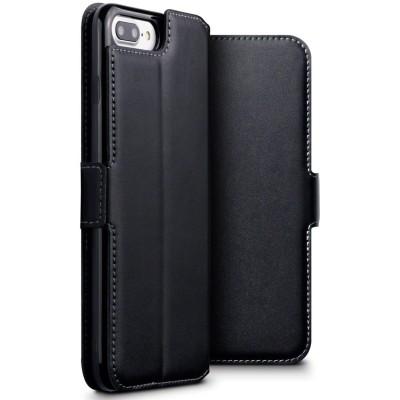 Terrapin Low Profile Δερμάτινη Θήκη - Πορτοφόλι iPhone 8 Plus/ 7 Plus - Black