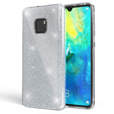 Shining Glitter Case για Huawei Mate 20  - Silver (200-103-862)