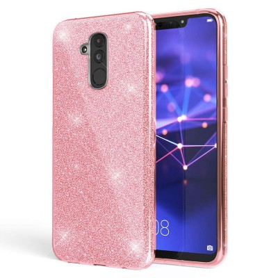 Shining Glitter Case για Huawei Mate 20  - Pink (200-103-863)