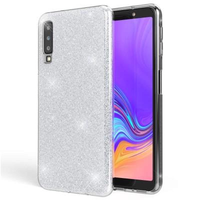 Shining Glitter Case για Samsung Galaxy A7 (2018) - Silver (200-103-868)