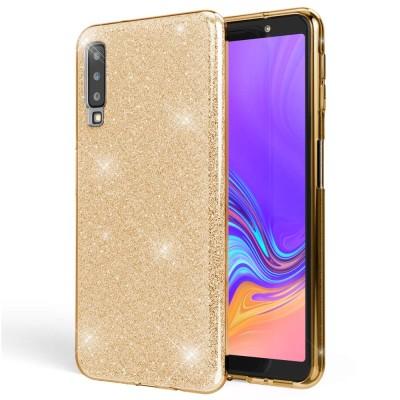 Shining Glitter Case για Samsung Galaxy A7 (2018) - Gold (200-103-869)