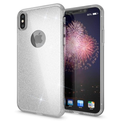 Shining Glitter Case για iPhone Xs Max Silver- OEM (200-103-879)