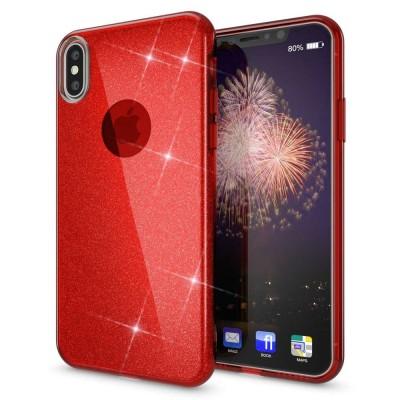 Shining Glitter Case για iPhone X/Xs Red- OEM (200-103-883)