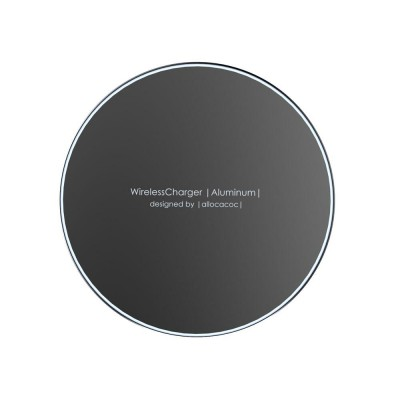 Allocacoc Wireless Charging Pad (Qi) Μαύρο (Aluminium 10W) - (200-104-438)