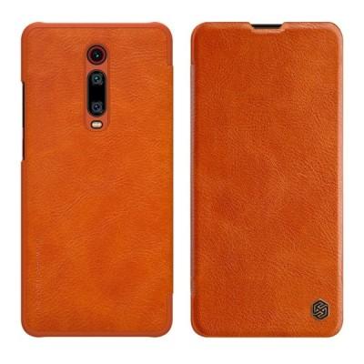 Δερμάτινη θήκη-πορτοφόλι QIN Leather by Nillkin καφέ για Xiaomi Mi 9T / Redmi K20 - (200-104-453)