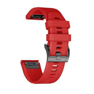 Ανταλλακτικό Λουράκι Κόκκινο Smooth Garmin Fenix 5/6/6 Pro (22mm) - Tech Protect (200-104-662)