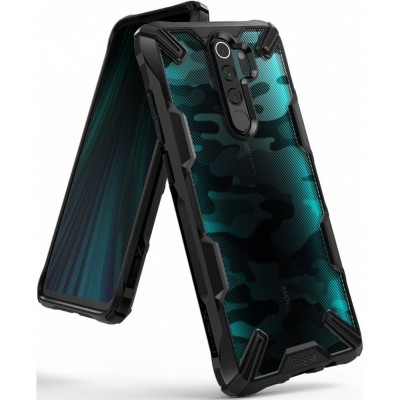 Ringke Fusion-X Θήκη Xiaomi Redmi Note 8 Pro - Camo Black / Transparent (200-104-664)