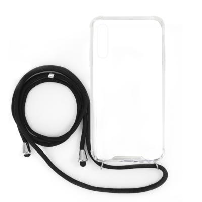 OEM Θήκη Σιλικόνης με Λουράκι Λαιμού για Samsung Galaxy A20e - Transparent (200-108-197)