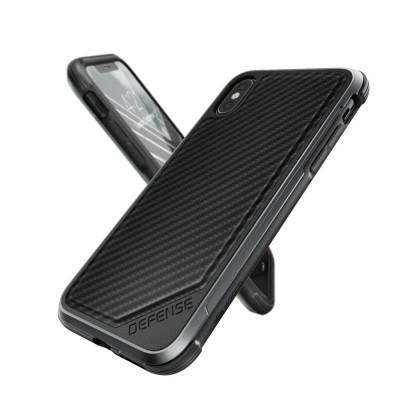 X-Doria Defense Lux Θήκη iPhone X / XS - Black Carbon (200-105-506)