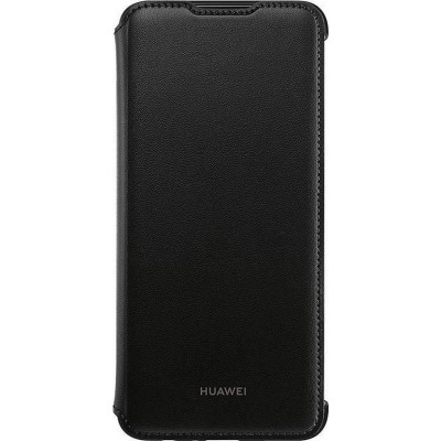 Huawei Official PU Leather Wallet Cover - Θήκη Flip Huawei P Smart 2019 - Black (200-105-963)
