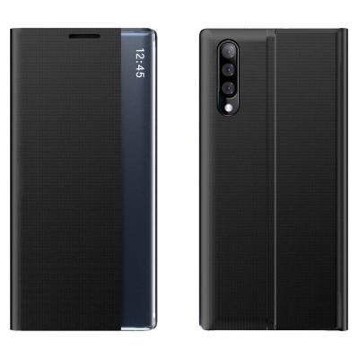 OEM New Sleep Flip Cover Case Θήκη με Ημιδιάφανο Παράθυρο Samsung Galaxy A50 - Black (200-106-021)