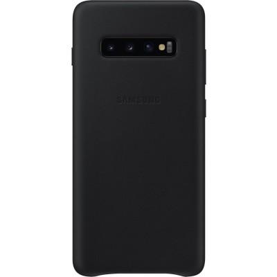 Official Samsung Δερμάτινη Θήκη Samsung Galaxy S10 Plus - Black EF-VG975LBEGWW (200-106-036)