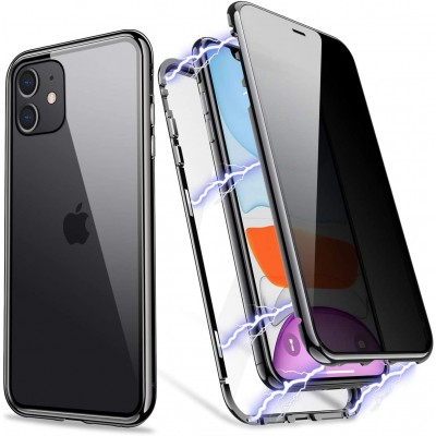 Magneto Full Glass Case - Μαγνητική Θήκη iPhone 11 Clear / Black (200-106-048)