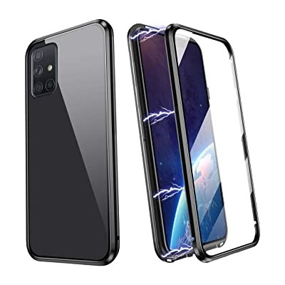 Magneto Full Glass Case - Μαγνητική Θήκη  Samsung Galaxy A71 Clear / Black (200-106-051)