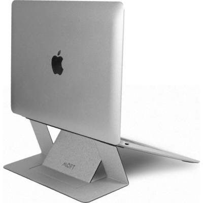 "Allocacoc Moft Adhesive Foldable Laptop Stand - Βάση Αλουμινίου για Laptop 11.6"" - 15.6"" -  Silver (200-106-084)"