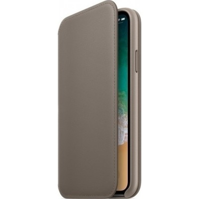 Official Apple Leather Folio Taupe iPhone X/XS (MQRY2ZM/A)