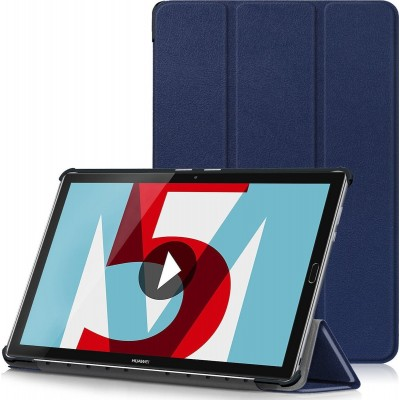 Tactical Book Tri Fold Case for Huawei MediaPad M5 10 Blue (200-106-097)