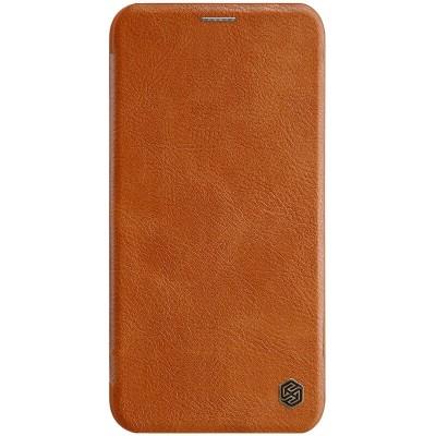 Δερμάτινη θήκη-πορτοφόλι QIN Leather by Nillkin καφέ για iPhone 11 Pro Max - (200-106-114)