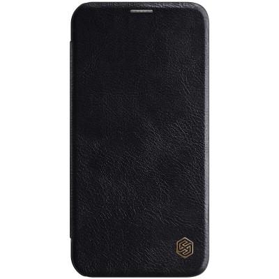 Δερμάτινη θήκη-πορτοφόλι QIN Leather by Nillkin Μαύρη για iPhone 12 /12 Pro - (200-106-117)