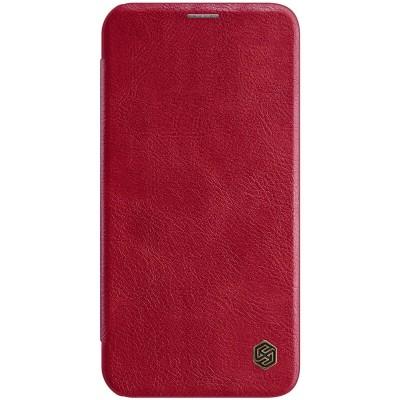 Δερμάτινη θήκη-πορτοφόλι QIN Leather by Nillkin Κόκκινη για iPhone 12 /12 Pro - (200-106-124)