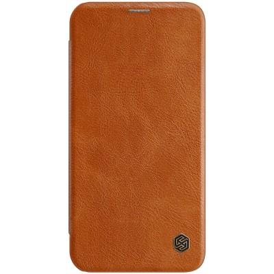 Δερμάτινη θήκη-πορτοφόλι QIN Leather by Nillkin Καφέ για iPhone 12 /12 Pro - (200-106-125)