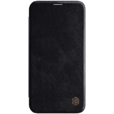 Δερμάτινη θήκη-πορτοφόλι QIN Leather by Nillkin Μαύρη για iPhone 12 Pro Max  - (200-106-126)