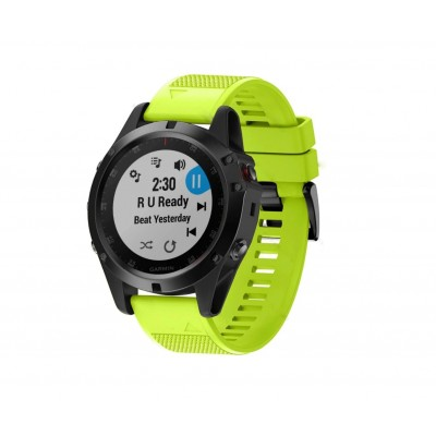 Tactical 684 Silicone Band for Garmin Fenix 5X/6X QuickFit 26mm Lime (200-106-130)